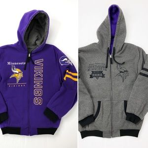 💜Unisex Minnesota Vikings Reversible Coat Sweater